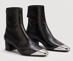 Mango оригинал стильные ботинки натуральная кожа р. 37
