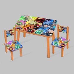 Столик Мини  2 стульчика, детский столик два стульчика Оранжевый