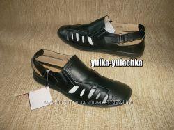 Мужские Кожаные сандалии закрытого типа Две модели