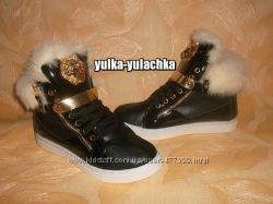 Стильные зимние ботинки Натуральный мех