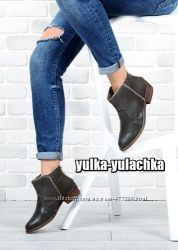 Стильные Ботинки Ботиночки на низком ходу