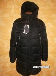 Зимняя мужская удлиненная куртка пальто