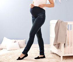 Стрейчевые слим джинсы для беременных на животик
