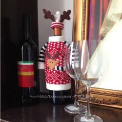 Декор на бутылку Рождество