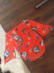 яркая блуза шелк
