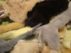 Обрезки кусочки меха  норка лиса  нутрия енот