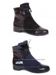 Кожаные демисезонные ботинки Каприз модель КШ-341 в наличии черные и синие