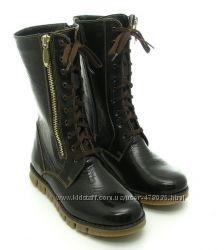 Качественные высокие ботинки Берегиня модель 2242 коричневые и черные