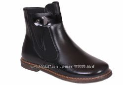 Кожаные ботинки Каприз модель КШ-489 черные и синие в наличии все размеры