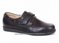Кожаные туфли для мальчика Каприз модель КШ-141-3 черные