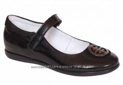 Шикарные черные кожаные туфли Каприз КШ-444-2