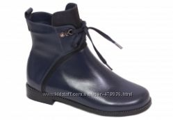 Кожаные ботинки Каприз модель КШ-576, 577 черные и синие