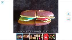 Сендвич и овощи на липучках 2-6 лет развив игрушка