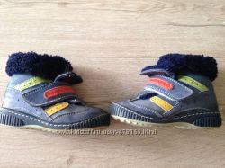 Ботинки теплые раз 24 кожа
