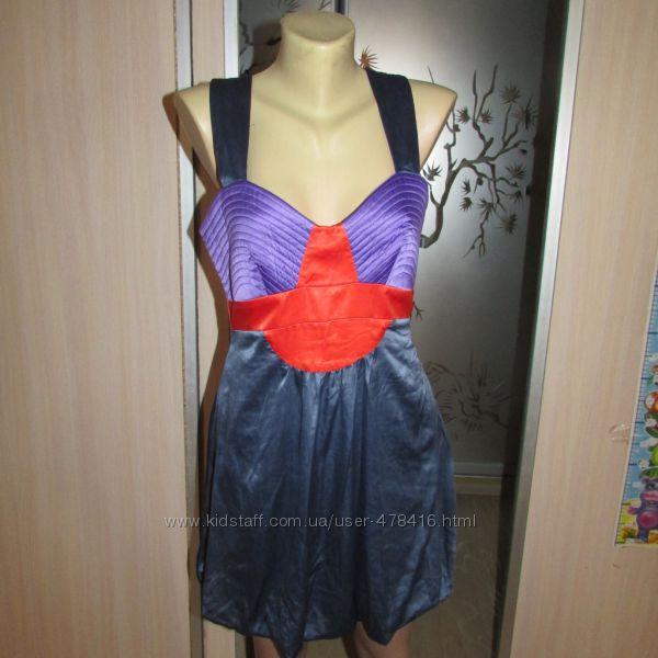 Красивое яркое платье сарафан UK12 eur 40