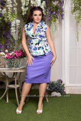 Стильный летний костюм - юбка и блуза
