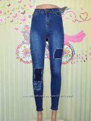Фирменные джинсы, стрейч, зауженные, Хит 2019, рваные, от 26р до 33р