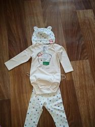 H&m костюм 3-6 месяц 68 см