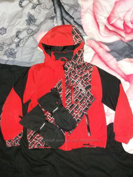 Куртка зимняя Spyder, 5 рукавицы и флиска