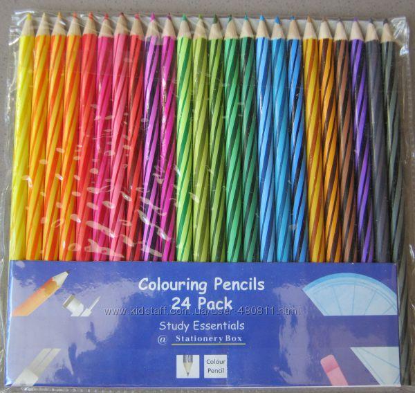 Цветные карандаши мягкие, яркие