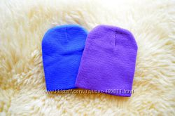 Трикотажная  шапочка фиолетовая