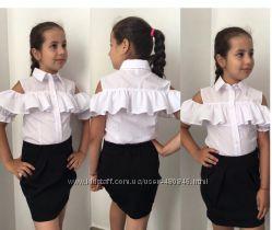 Блузка нарядная школьная, хит 2018