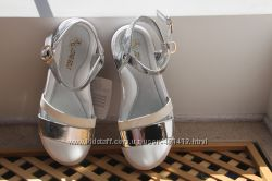Босоножки сандалии серебро белые серебряные