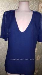 Элегантная синяя блуза wishbone