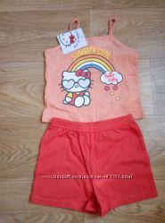 Летний костюм Hello Kitty- майка и шортики, на 2-3 года