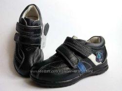 Стильные кожаные туфли кроссовки для мальчика