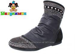 Стильные демисезонные ботинки для девочки Шалунишка