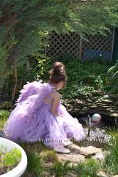 Чудесное платье Феи Эльфа Цветка Принцессы, с настоящими крыльями фотосесси