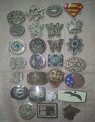 Пряжки с камнями для ремня-пояса 25 штук