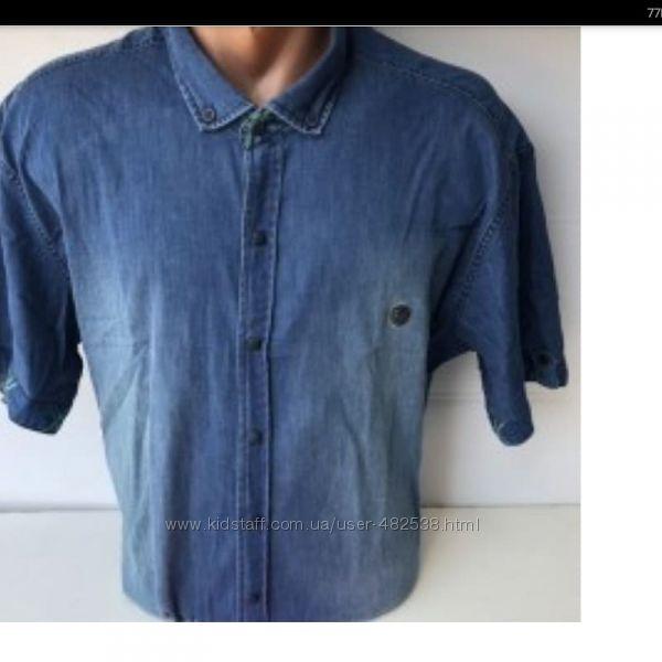 Джинсовая рубашка батального размера