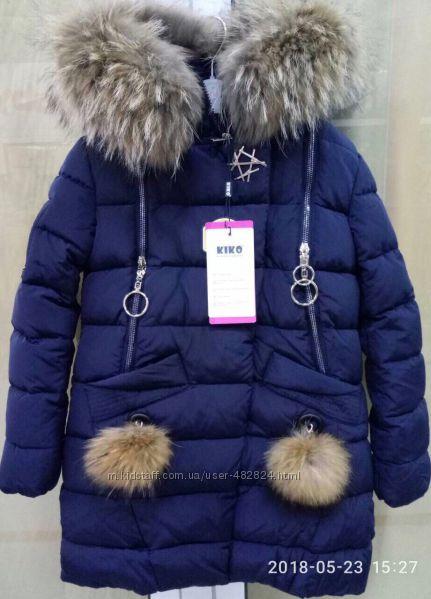 Новое зимнее пальто для девочки Кико 6152ЛевинФорс 8178. Зима 2021
