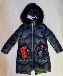 Новое зимнее пальто для девочки Анеруно 19177, 19138. Зима 2019