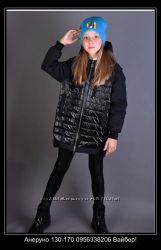 Анеруно демисезонное пальто для девочек. Весна-Осень 2019