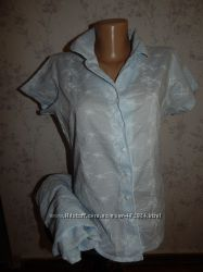 Marks&spencer пижама батистовая рубашка бриджи р12