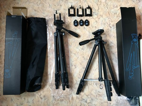 Фото Штатив 43-146 см универсальный, для съемок с чехлом и держателем А608