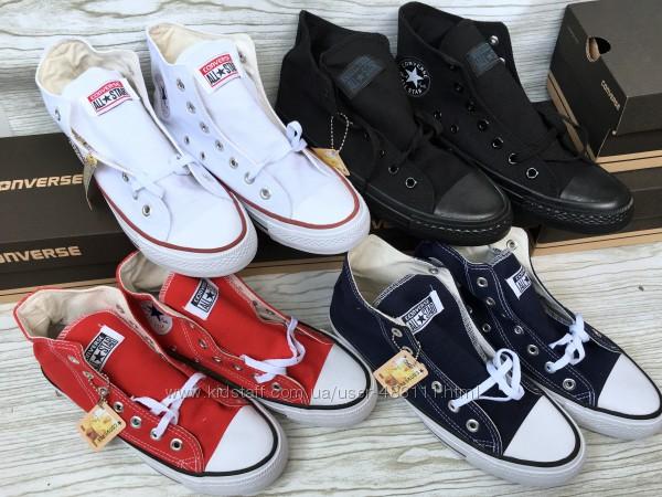 Высокие Кеды Converse All Star, размер  35-46р. Много цветов