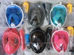 Детская панорамная маска Free Breath XS-S , Дитача маска для снорклінга
