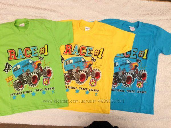 Летние трикотажные футболки  для мальчиков 3-7 лет разные модели