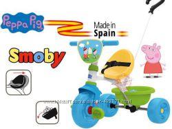 Велосипед трехколесный металлический Свинка Пеппа