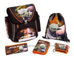 Школьный ортопедический каркасный рюкзак плюс наполнение, Scooli Disney