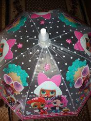 Шикарные зонтики для девочек  с Лол, принцессы, человек паук.