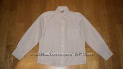 Рубашка школьная John Lewis для девочки 7-8 лет в отличном состоянии