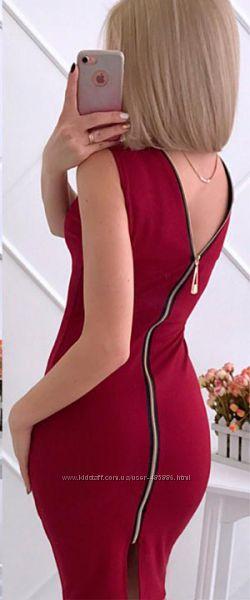 Летнее платье на молнии Bella Код 041