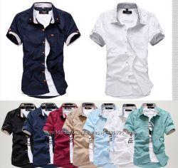 Рубашка с коротким рукавом мужская 3 размера рфу1