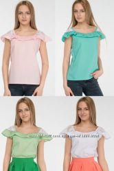 Женская блуза Ispano с гипюром