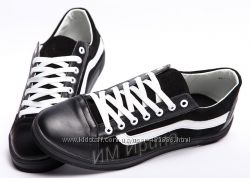 Кеды кожаные Vans Black Suede